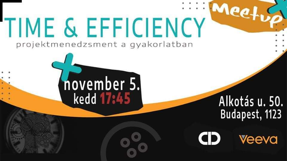 Time and Efficiency meetup by Veeva poster